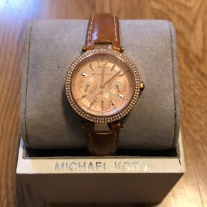 Leather band Michael Kors Watch